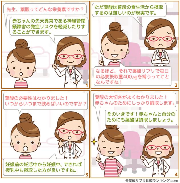 葉酸の漫画