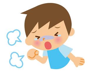 咳き込む子供